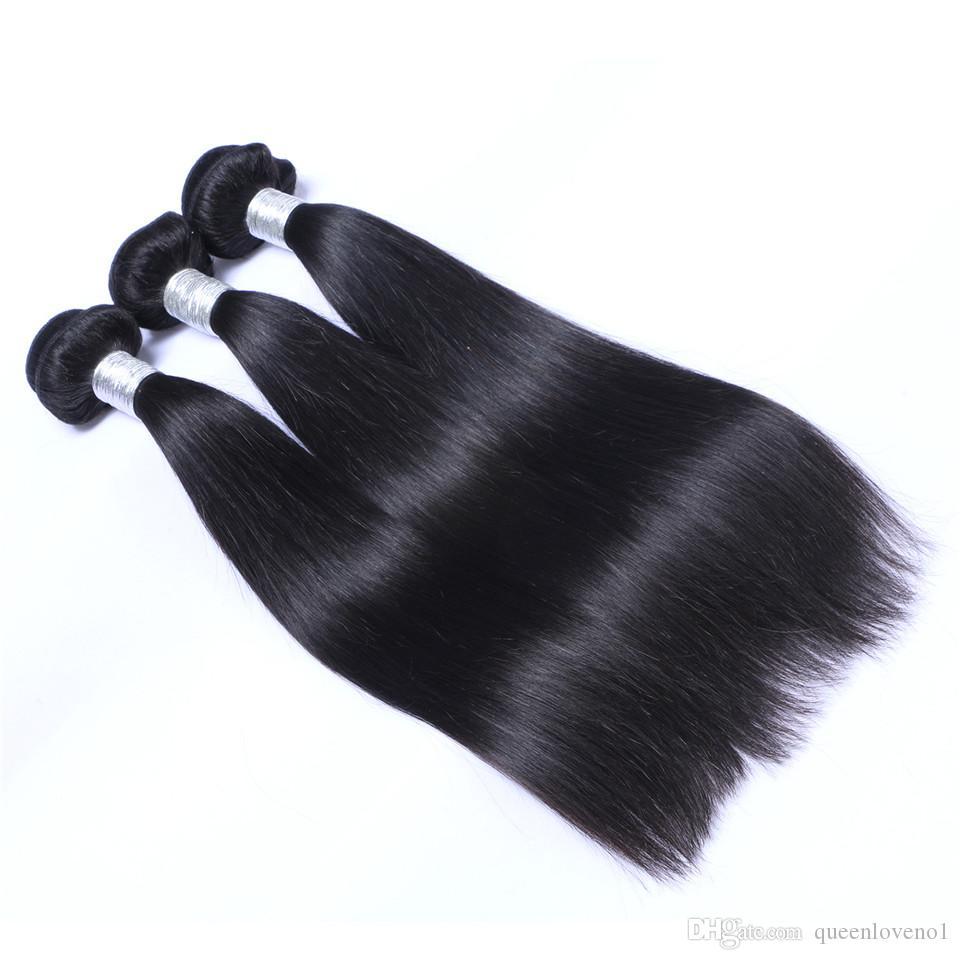 Indiani diritto Tessiture capelli umani di Remy di estensioni tingibili / nessun spargimento aggroviglia liberamente non trasformati umani vergini tessono capelli