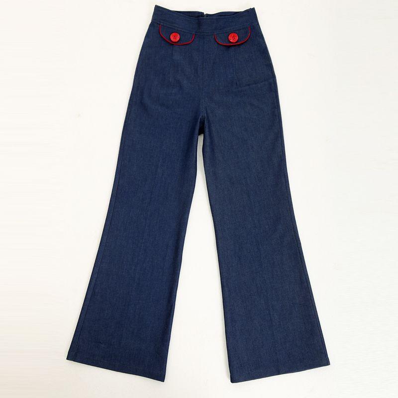 La Llamarada Al Talle Pantalones Vaqueros De Envío Roupas Diseño Vintage Mujer Venta Up Pin Ropa Estilo Por Mayor Gratis clKF1JT