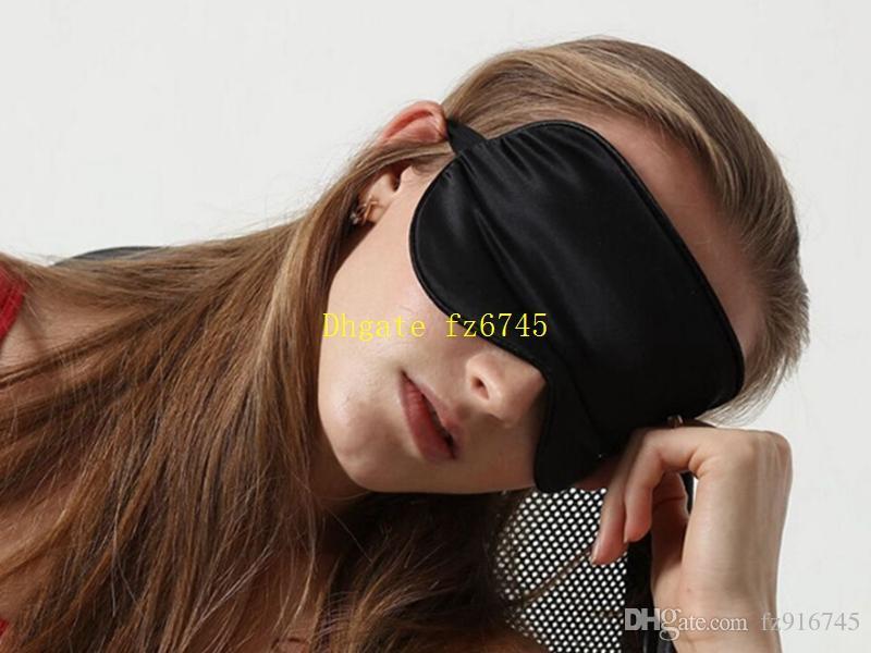 / Livraison Gratuite Hight qualité Réel Silk Eye masque doux Eyeshade Sleeping Shade Couverture Voyage Relax Eyemask