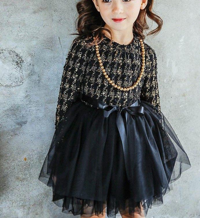 2016 Winter Korean Children Girls Printed Long Sleeve Round Neck Long Sleeve Dresses Tiered Gauze Thicken Warm Pompom Dress ck Long Sleeve D