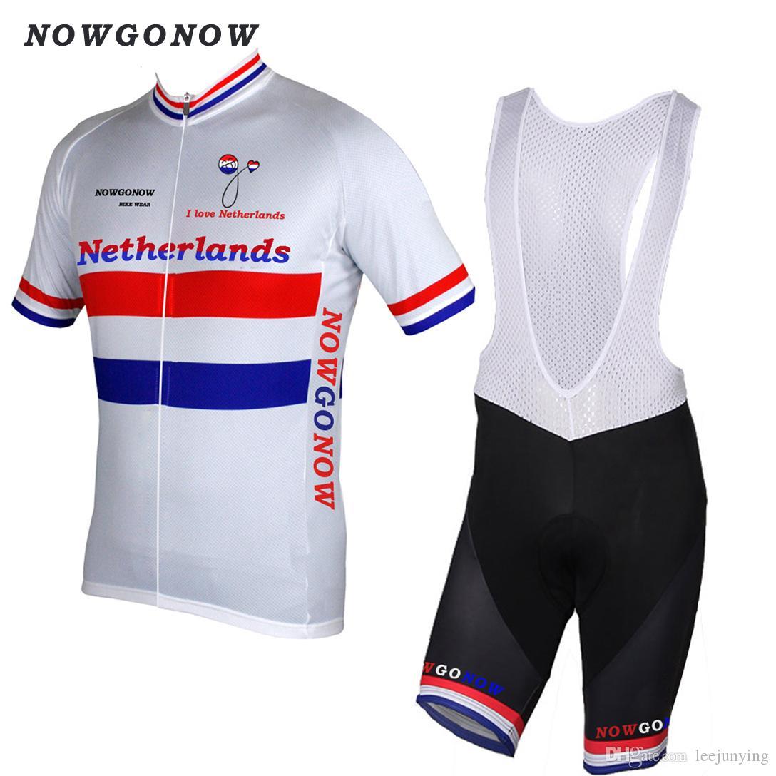new styles 226ef 2ed18 2017 cycling jersey clothing Dutch national Netherlands team bike wear bike  pro riding mtb Mountain road wear NOWGONOW bib shorts gel pad