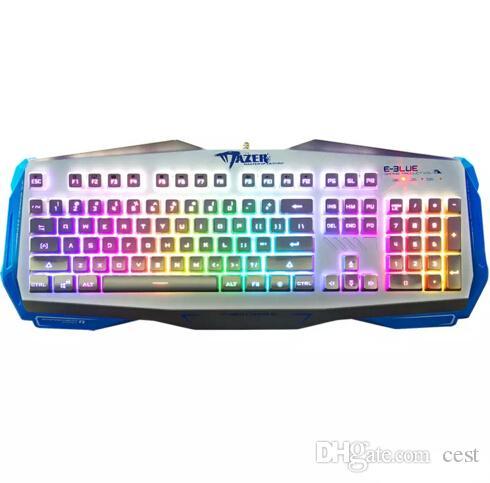 E-3lue gioco computer E-3LUE EKM745 k745 USB professionale cablato 104 tasti tastiera da gioco fresco trasporto veloce