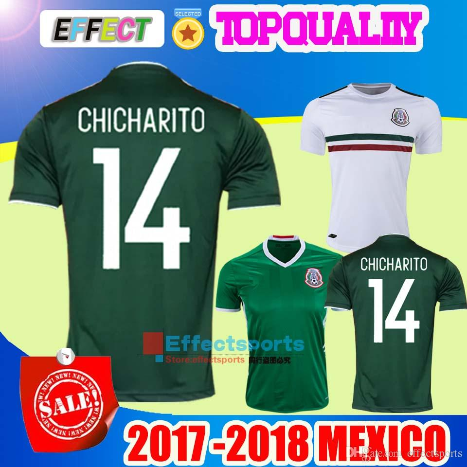 27f128f88 ... 2017 Best Quality 2017 2018 Mexico National Team Soccer Jersey Home Away  1718 Green Chicharito Maillot ...