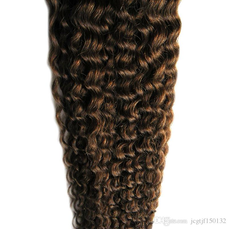 #4 Dark Brown human hair bundles 100g curly weave human hair deep curly brazilian hair weave,no shedding, tangle free
