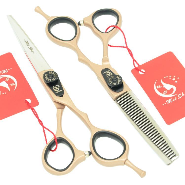 5.5 дюймов 6.0 дюймов Мейша салон красоты профессиональные парикмахерские ножницы набор JP440C стрижка волос + истончение ножницы для парикмахера горячей, HA0237