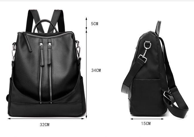 f02a28c0b5f Fashion School Backpack Women Children Schoolbag Back Pack Leisure Korean  Ladies Knapsack Laptop Travel Bags for Teenage Girls Backpack Handbags  School Bag ...