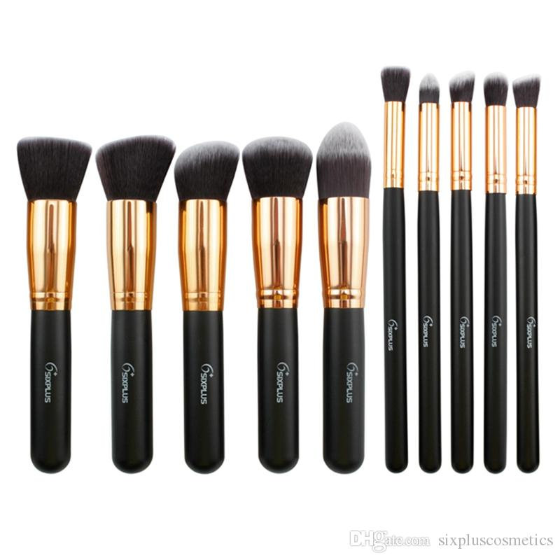 2017 Best Ing Cosmetic Tool Sixplus Makeup Brush Set Portable Professional Wood Handle Make Up With