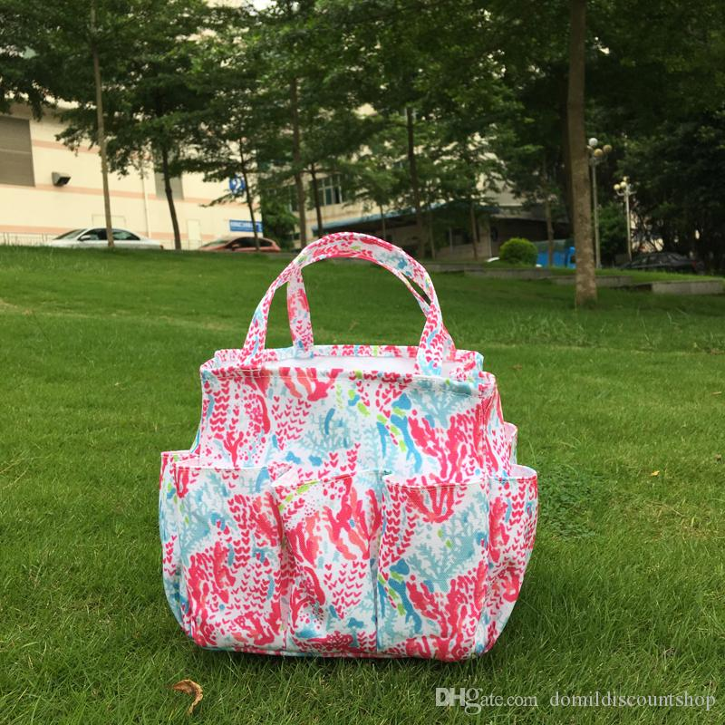 2018 Wholesale Blanks Lilly Garden Tote Bag Canvas Starfish Coral Crown  Jewel Seashell Utility Tote Garden Tool Bag Pockets Dom103609 From  Domildiscountshop ...