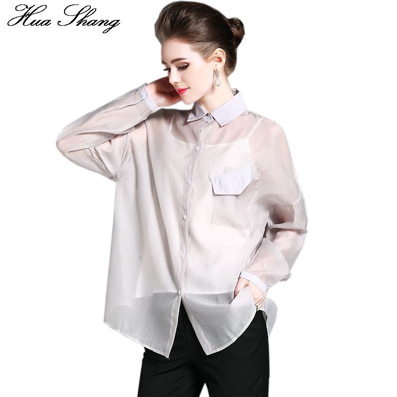 Großhandel Frauen Blusen Siehe Die 2017 Frauen Elegante Langarm Chiffon  Transparent Bluse Beiläufige Lose Plus Size Tuniken Frauen Shirt Tops Von  ... 545b1a98a9
