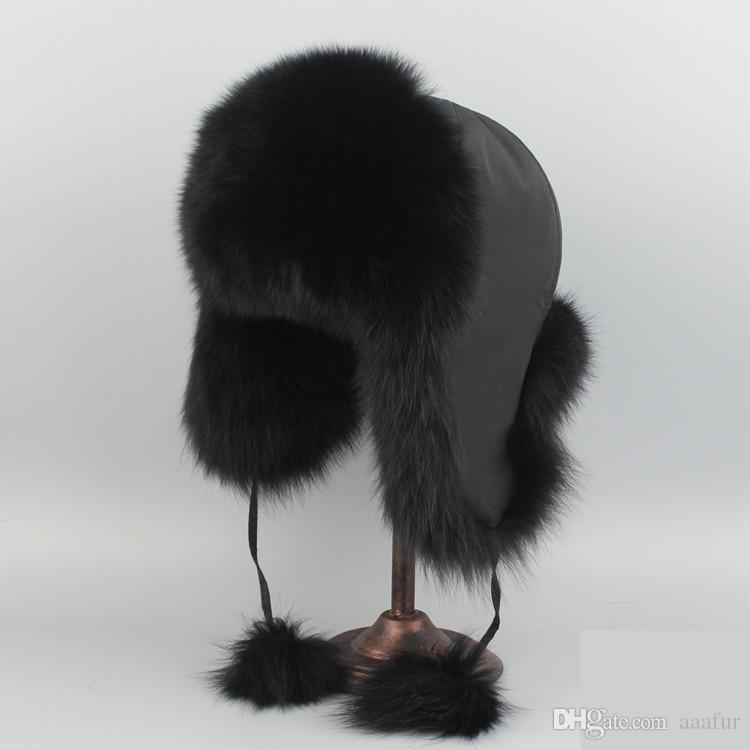 Cappuccio di pelliccia di volpe reale o cappellino di pelliccia di inverno delle donne del cappello di pelliccia di Racccoon Spedizione gratuita