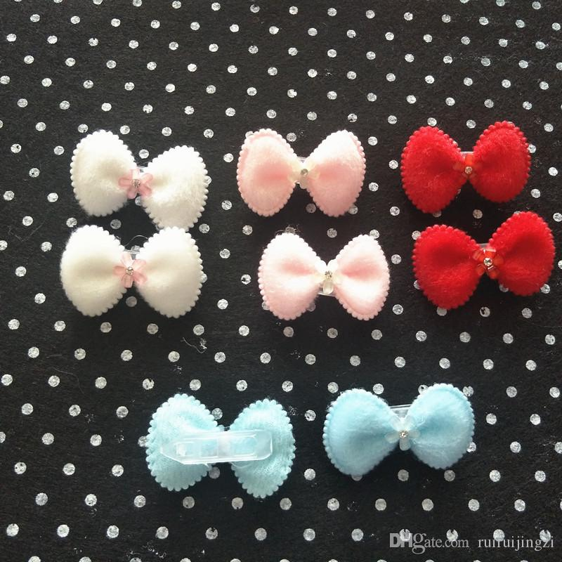 2017Pet Hairpin Bows Hair Clips For Dogs Teddy Yorkshire Pet Grooming Accessories Full Star Plastic Frog Buckle Clip
