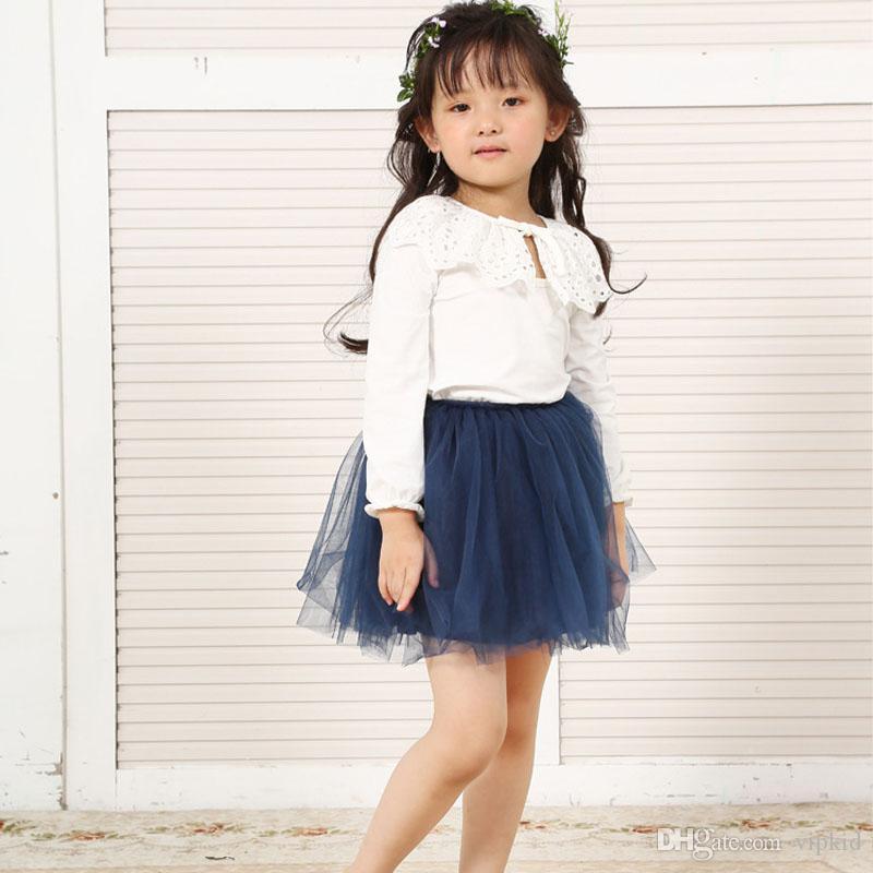 INS baby short skirt Four layer grenadine skirtBaby Girls TUTU Skirts 2016 Summer Pettiskirt for Kids Children Short Party Skirt