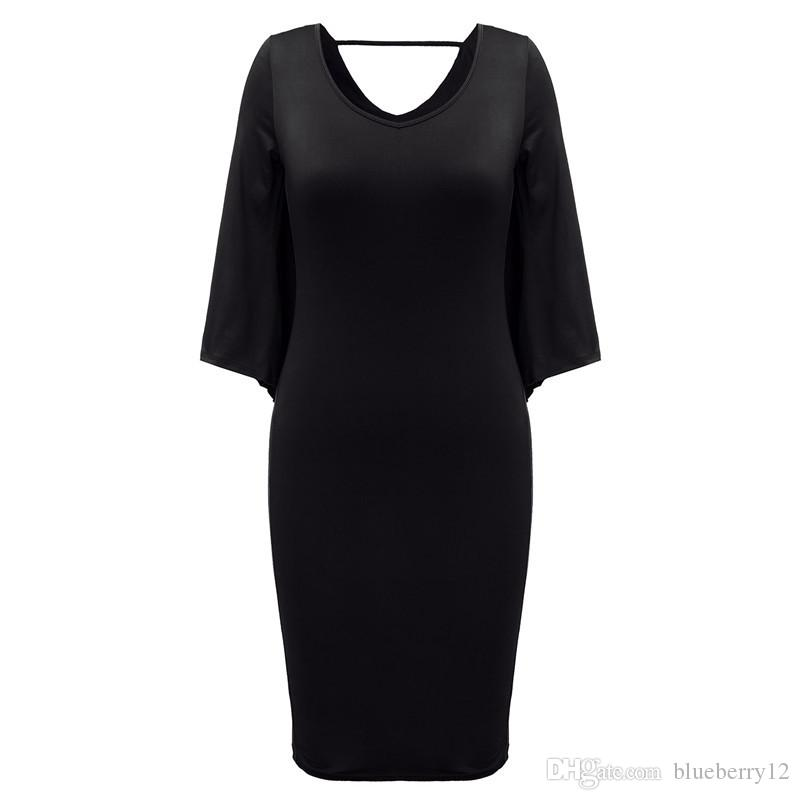 Fashion Women Dress Plus Size L/XL/XXL/XXXL Ladies Batwing Sleeve V Neck Cape Bodycon Bandage Cloak Midi Party Vestidos