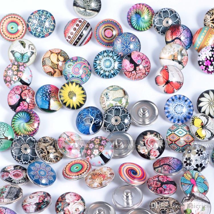 Pretty Takı Ucuz Snap Düğmesi Kolye için 18 MM Zencefil Cam Taklidi toptan Takı DIY Aksesuarlar Için Deri Takılar Bilezikler