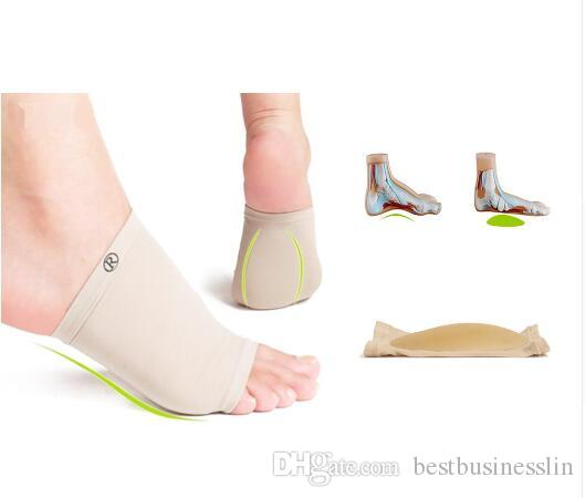 cb796fd6c4 Silicone Gel Plantar Fasciitis Arch Support Sleeve Arch Socks Heel Spur Cushion  Flat Foot Orthopedic Shoe Pad Foot Care Health Insole Pedi Foot Smoother ...