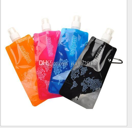 Water Bottle Comes Flat Foldable Water Bottle Collapsible 0.48 Litres Anti-Bottle 600pcs/lot DHL Fedex Free Shipping