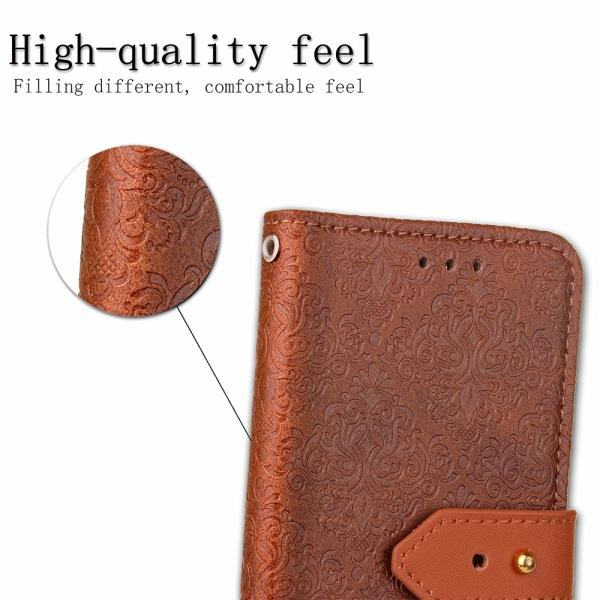 Motif PU Housse En Cuir Stand Portefeuille Style Stent Téléphone Sac Housse Avec Porte-Cartes Pour Samsung S3 4 5 6 iphone 6S 6 Plus OPP package