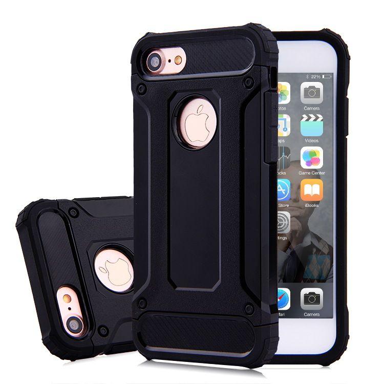 애플 아이폰 X 8 7 플러스 6 6S 삼성 S8 가장자리 S7 철강 갑옷 TPU PC 갑옷 안티 - 충격 실리콘 커버 케이스