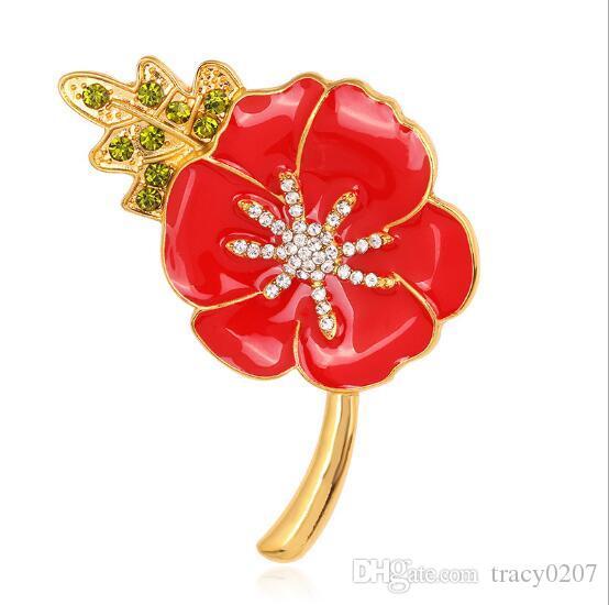 Dekorative Schal Clip Brosche Kleid Kleid Zubehör Hochzeit Braut Luxus Blume Rose Brosche Für Frauen Schmuck