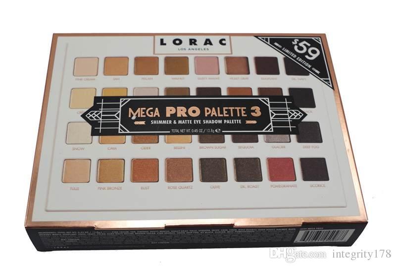 Professional shimmer /MATTE LORAC MEGA PRO 3 Palette nake Eyeshadow LORAC Eye shadow Palette Makeup Set cosmetics DHL