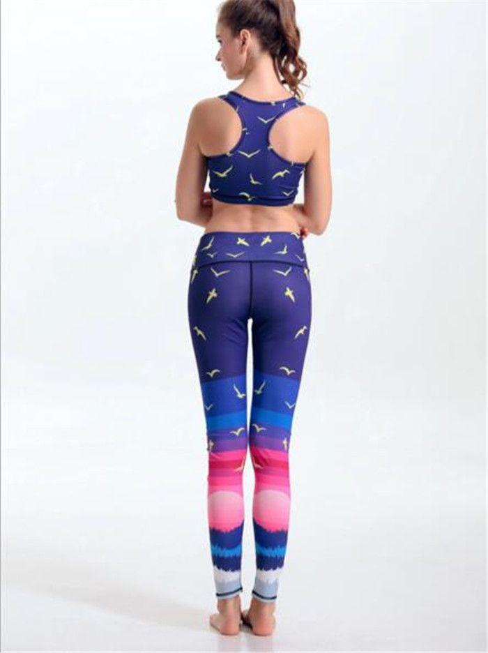 15 conjunto Camisolas Bird Sea gaivota Tanques Camisas Roxo Rosa Correndo Singlet Vest Camisole Ginásio Esportes Tops de Impressão Digital Sem Mangas A060