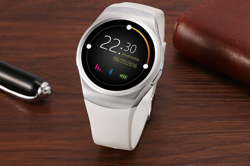 KW18 Bluetooh Smart Watch Cardiofrequenzimetro SIM Card TF Smartwatch iPhone Samsung Huawei Gear S2 Android Smartwatch shipp gratuito
