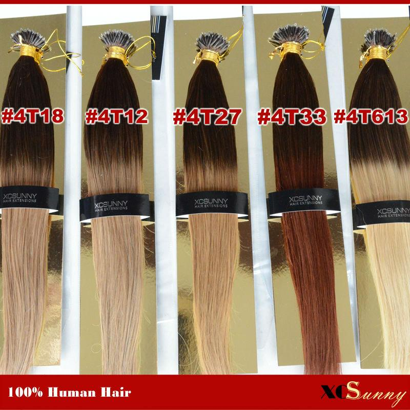 Wholesale Xcsunny Nano Ring Remy Hair Extensions 18 201gs Ombre