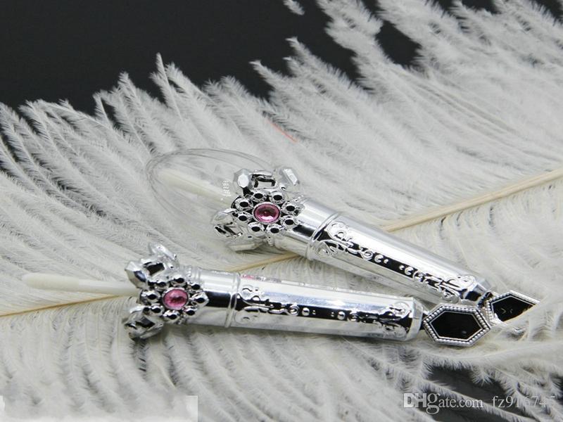 100 unids Envío Rápido Graceful Silver Brillo de Labios Contenedor Vacío DIY Lápiz Labial Líquido Botella Recargable Elegante Clear Lip Gloss Tube al por mayor