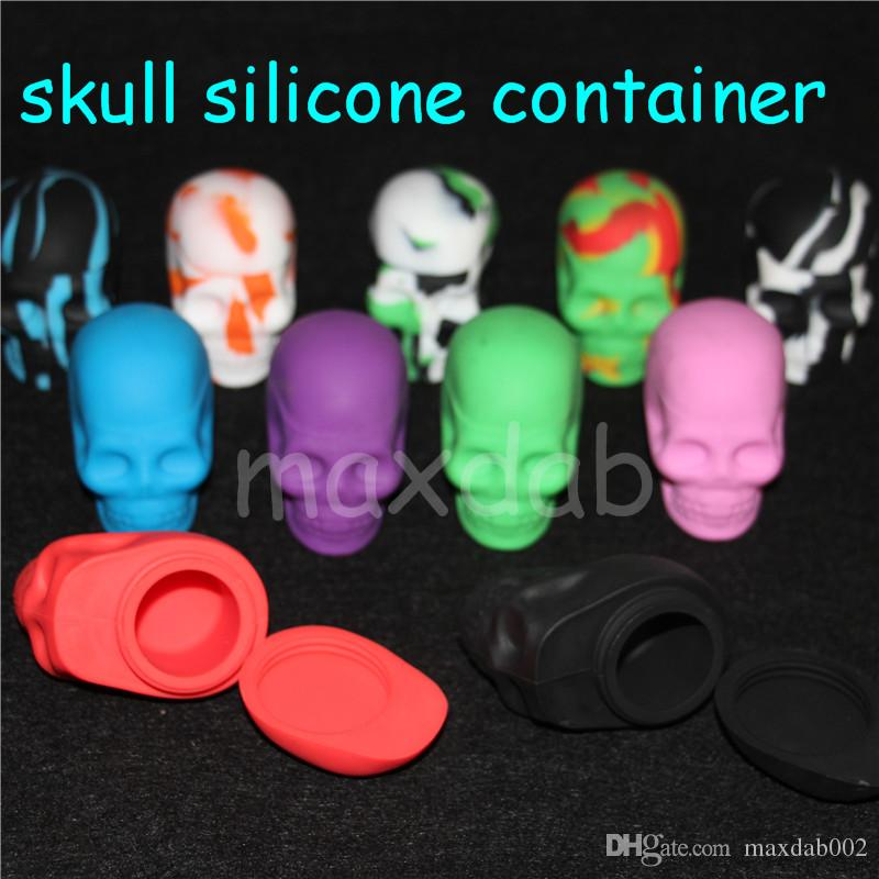 ba5e5ffe68739 2019 Newest Skull Silicone Hash Oil Container Screw Top Sample For Testing  From Maxdab002