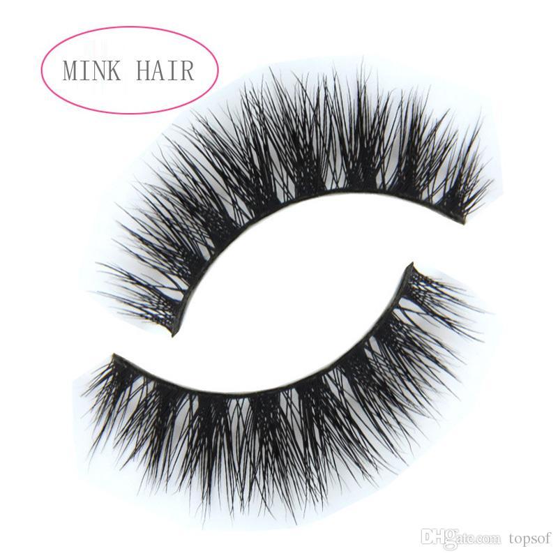 Real Mink Natural False Eyelashes Eyelash Extensions Handmade Fake