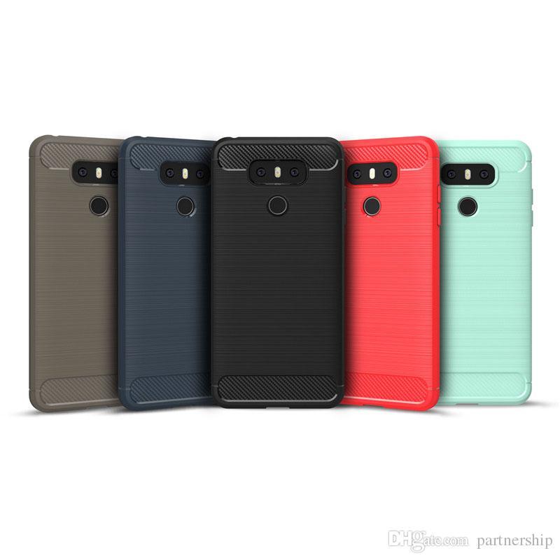 e104d134f83 Accesorios Para Moviles Fundas Más Recientes Para LG G6 Funda Delgada  Hybrid Súper Armadura Fibra De Carbono Textura Cepillado Funda De Silicona  TPU Suave ...