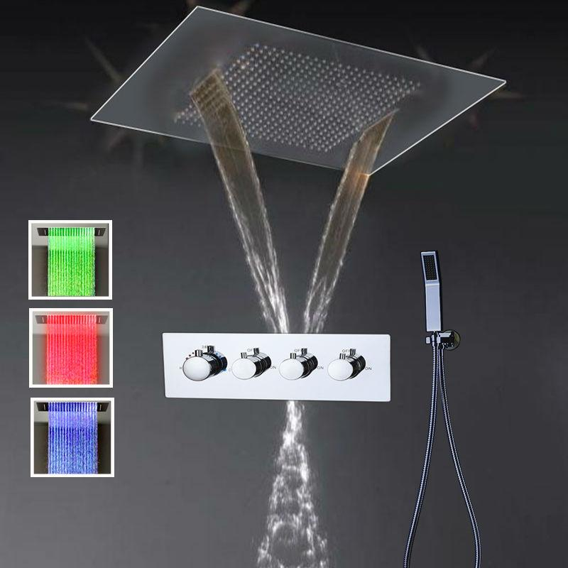 2019 Luxury Bathroom Accessories Thermostatic Shower Sets Shower