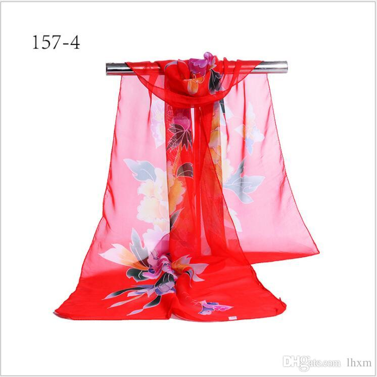 2017 novo estilo primavera e outono lenço quadrado mulheres verão seção fina xale cachecol tamanho 155 * 55 cm y51-y57
