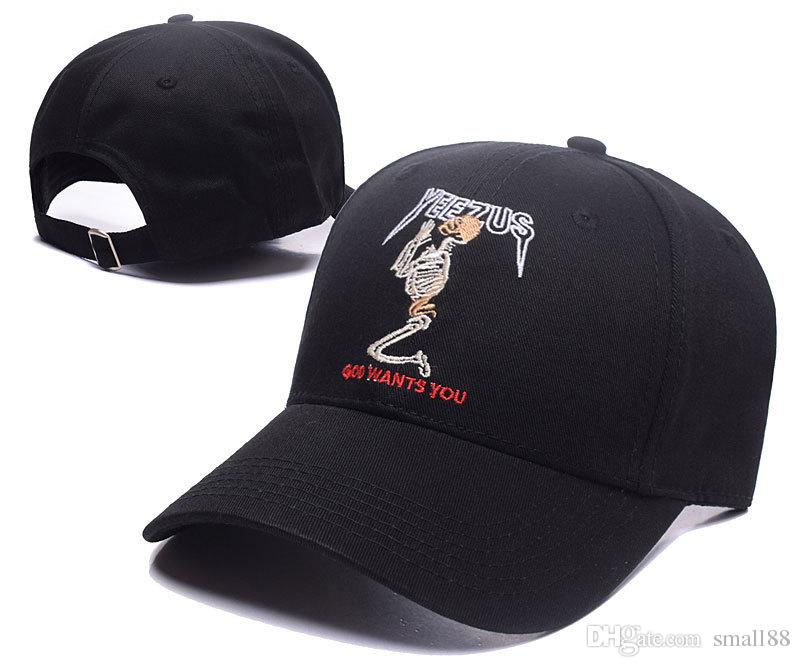203680e7fcc 2017 New Yeezus Cap Kanye West Hat Embroidery Cap Star Hip Hop Boost ...