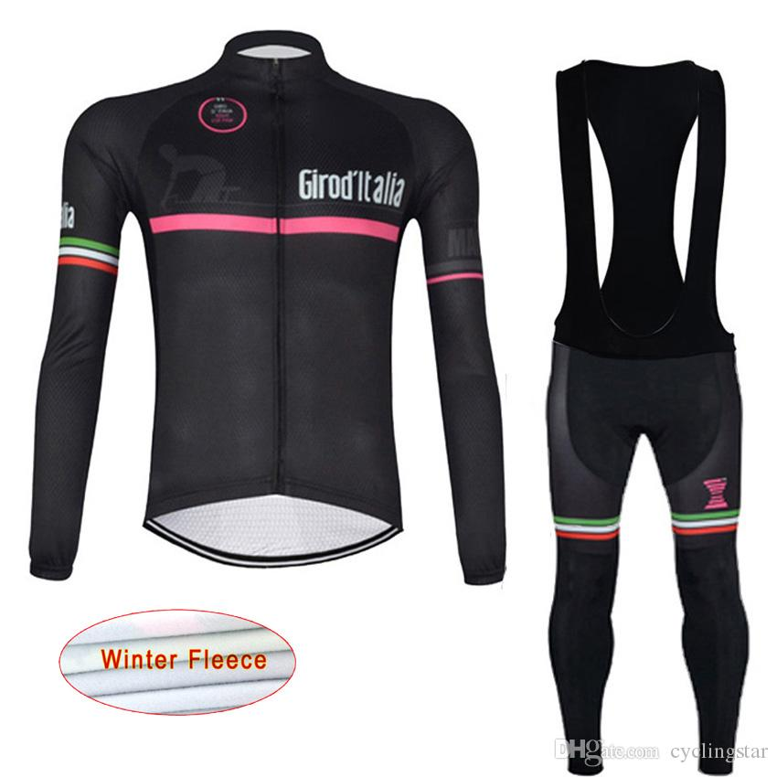 f6d70abdc Winter Thermal Fleece Pro Cycling Jersey Set Long Sleeve Ropa ...