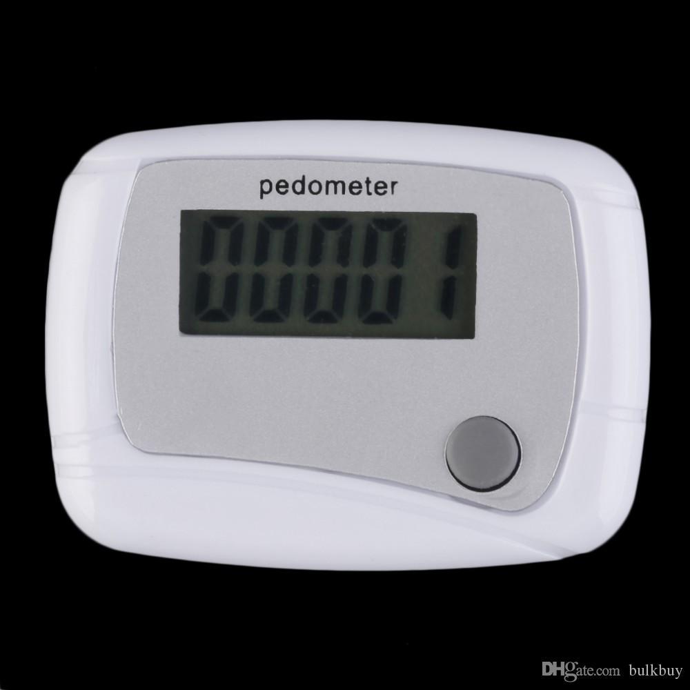 عداد الخطى المحمولة البسيطة الرقمية LCD تشغيل الخطوة عداد الخطى المشي مسافة عداد