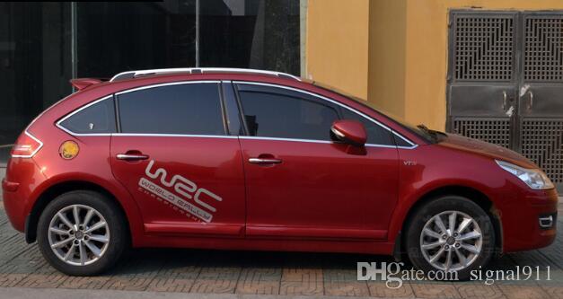 ! High quality 304# stainless steel window top decoration trims For Citroen C4 sedan/hatchback 2007-2013