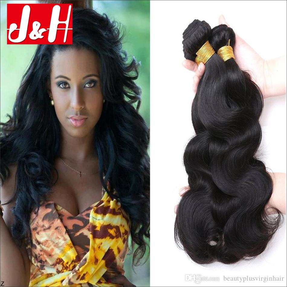 Malaysian Unprocessed 3tangle Free Body Wave Natural Color Human