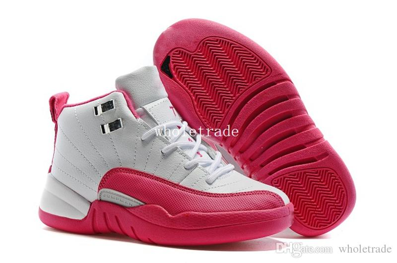 huge discount bb0cb 64a5f Cheap Kids Air Retro 12 Gym Red Basketball Shoes Air Retro 12 Wolf Grey Ovo  Wings Playoffs Retro 12s Sneakers Size 28 35 From Dropshipper Wholetrade,  ...
