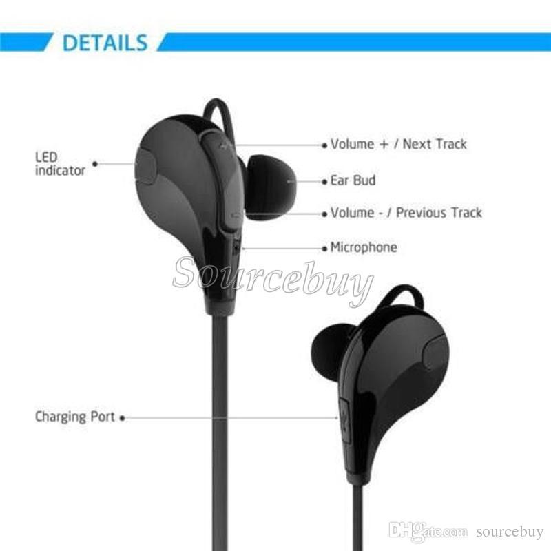 Bluetooth 4.0 Casque QY7 In-ear Stéréo Mode Sport Course à pied Casques sans fil Studio Musique Écouteurs Avec Micro Mains Libres Dans Boîte Gratuit DHL