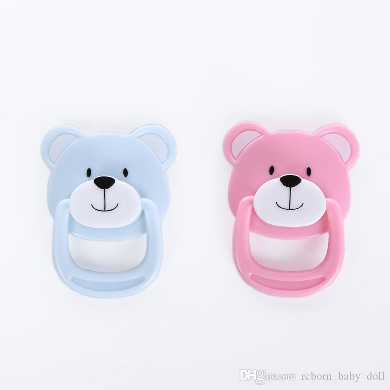 Hot -selling lovely reborn supply magnet pacifier/ dummy bear pacifier for reborn baby dolls