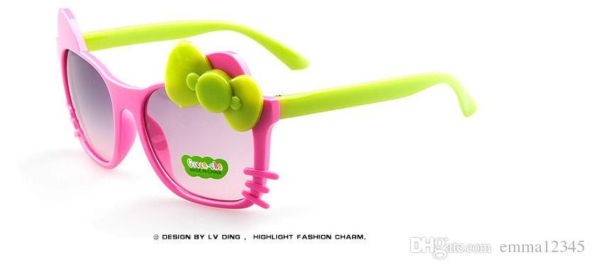 Toptan Moda Karikatür Kedi Erkek kız Çocuk Güneş Gözlüğü Korumak Yeni Çocuklar Yıldız Hello kitty Gözlük Gözlük Ücretsiz kargo