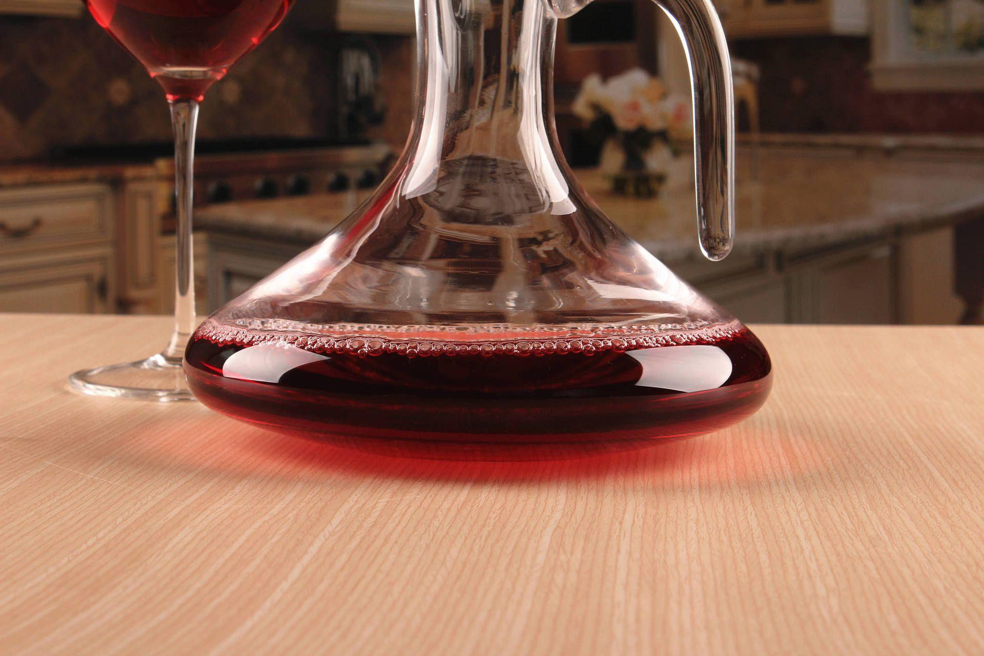 1500 ml Nouveau Verre Carafe Bec Bec De Verre Carafe De Vin Aérateur de Vin Conteneur Distributeur Carafe Bouteille Cruche verseur de vin J1112
