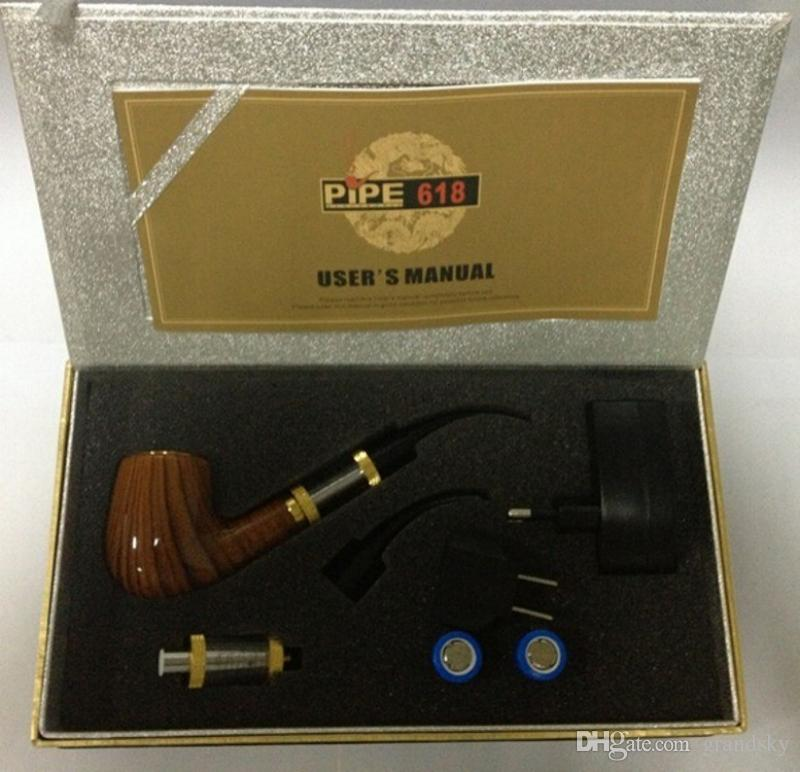 Brand New Professional 618 E-PIPE Starter Kit E-Cigarette ePipe Kit 2.5ml Atomizer With 18350 Batteries High Quality Pipe