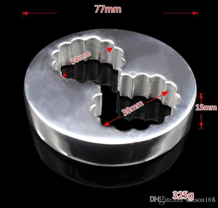 Nuovo BDSM Sex Toy Toy Acciaio inossidabile Stimolare Bondage Spremere Scoto Testicelli Penis Pendente Pendant Barella Barella Bockring Dog Slave Strumenti A288