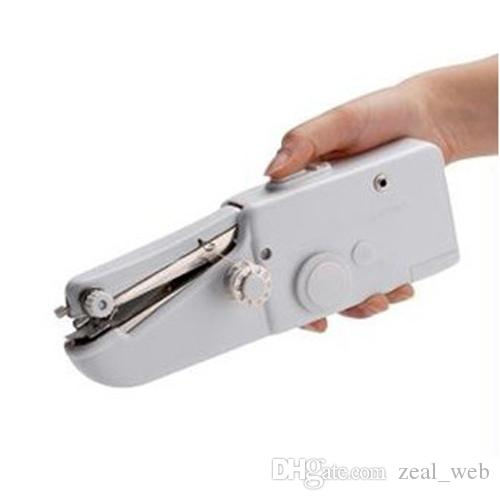 Machine à coudre portable Ordinateur de poche Point de couture Coudre les travaux d'aiguille Broderie sans fil Tissus Trousses à outils électriques pour famille 7