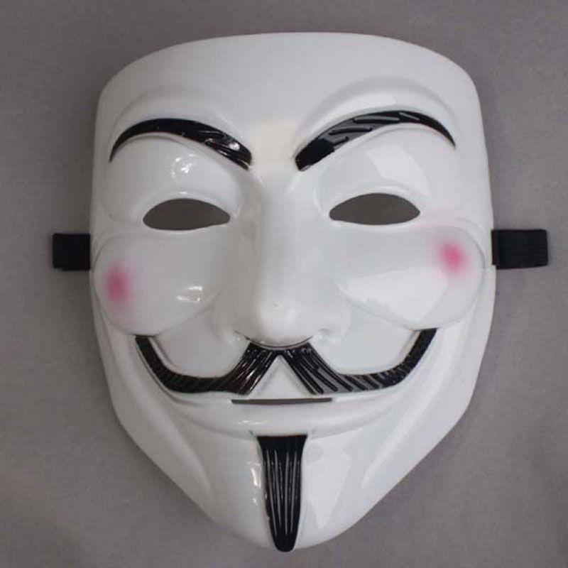 Partie Masques V pour Vendetta Masques Anonymes Guy Fawkes Déguisements Costume Adulte Accessoire En Plastique Partie Cosplay Masques