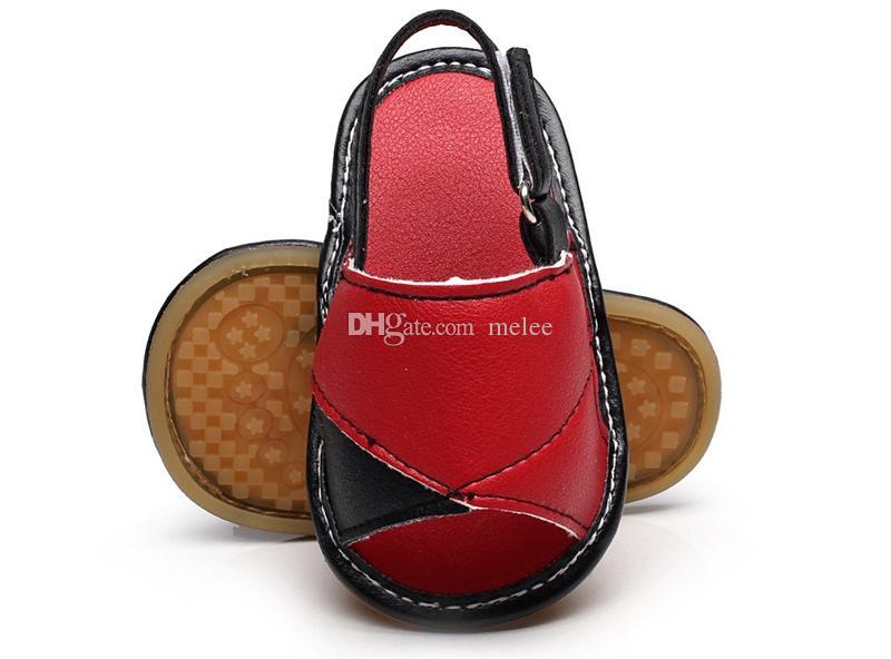 Лето малыша кожаные сандалии детские резиновые подошвы обувь новорожденных девочек мальчиков мягкой подошвой искусственная кожа детские первые ходунки Детская обувь 0-2Year