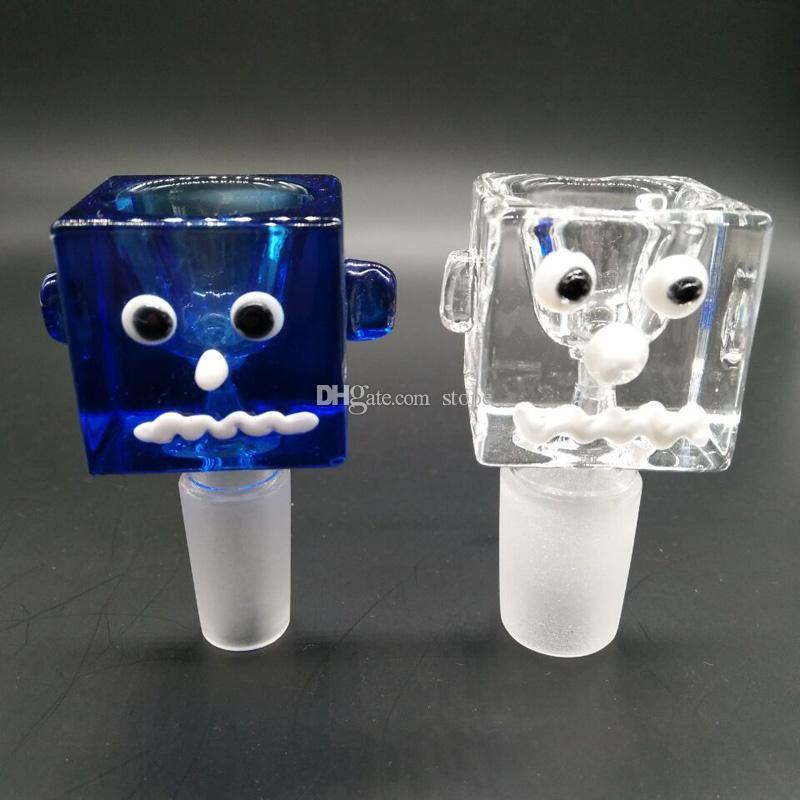 Neueste Bunte art Männlich Glas Schüssel Wasserpfeife Tabakpfeife Schüssel Glas Bong Pfeife Kostenloser Versand
