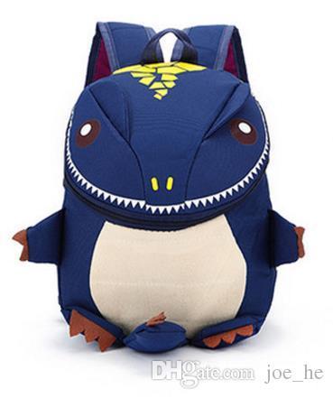 5 Renk Iyi Dinozor Nylo çocuklar sırt çantası Pamuklu Kumaş Karikatür Arlo Anti Kayıp anaokulu çocuk sırt çantası okul çantaları dinozorlar aperatifler